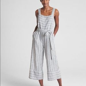 Gap striped square neck jumpsuit